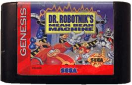 Cartridge artwork for Dr. Robotnik's Mean Bean Machine on the Sega Genesis.