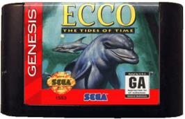 Cartridge artwork for Ecco 2: The Tides of Time on the Sega Genesis.