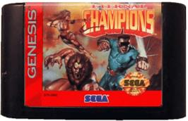 Cartridge artwork for Eternal Champions on the Sega Genesis.