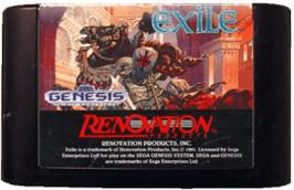 Cartridge artwork for Exile on the Sega Genesis.