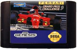 Cartridge artwork for Ferrari Grand Prix Challenge on the Sega Genesis.