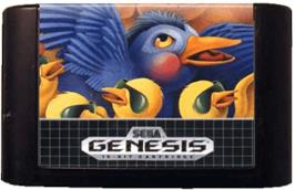 Cartridge artwork for Flicky on the Sega Genesis.
