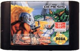 Cartridge artwork for Gods on the Sega Genesis.