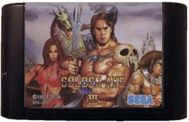 Cartridge artwork for Golden Axe III on the Sega Genesis.