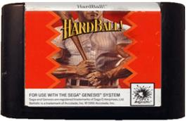 Cartridge artwork for HardBall on the Sega Genesis.