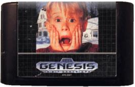 Cartridge artwork for Home Alone on the Sega Genesis.