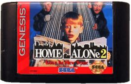 Cartridge artwork for Home Alone 2 - Lost in New York on the Sega Genesis.
