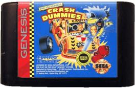 Cartridge artwork for Incredible Crash Dummies, The on the Sega Genesis.