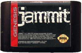 Cartridge artwork for Jammit on the Sega Genesis.