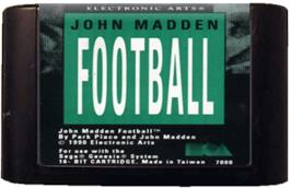 Cartridge artwork for John Madden Football on the Sega Genesis.