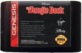Cartridge artwork for Jungle Book, The on the Sega Genesis.