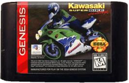 Cartridge artwork for Kawasaki Superbike Challenge on the Sega Genesis.