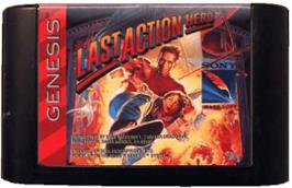 Cartridge artwork for Last Action Hero on the Sega Genesis.