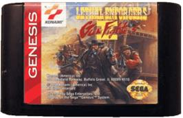 Cartridge artwork for Lethal Enforcers II: Gun Fighters on the Sega Genesis.