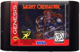 Cartridge artwork for Light Crusader on the Sega Genesis.