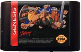 Cartridge artwork for Lost Vikings, The on the Sega Genesis.