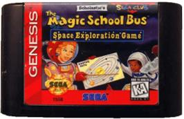Cartridge artwork for Magic School Bus, The on the Sega Genesis.