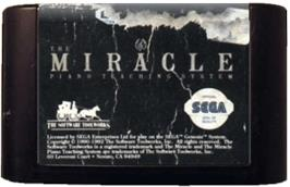 Cartridge artwork for Miracle Piano Teaching System on the Sega Genesis.