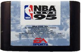Cartridge artwork for NBA Live '95 on the Sega Genesis.