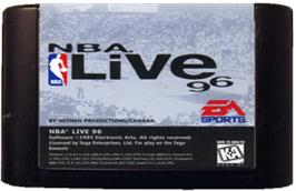 Cartridge artwork for NBA Live '96 on the Sega Genesis.