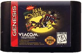 Cartridge artwork for Nickelodeon: Aaahh!!! Real Monsters on the Sega Genesis.