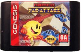 Cartridge artwork for Pac-Attack on the Sega Genesis.
