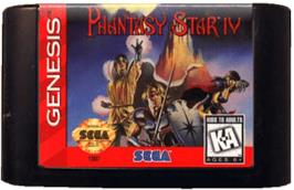 Cartridge artwork for Phantasy Star 4 on the Sega Genesis.