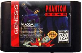 Cartridge artwork for Phantom 2040 on the Sega Genesis.