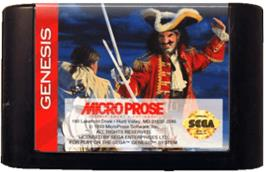 Cartridge artwork for Pirates! Gold on the Sega Genesis.