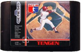 Cartridge artwork for RBI Baseball 3 on the Sega Genesis.