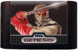 Cartridge artwork for Revenge of Shinobi, The on the Sega Genesis.