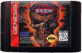Cartridge artwork for Skeleton Krew on the Sega Genesis.