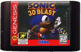 Cartridge artwork for Sonic 3D Blast on the Sega Genesis.