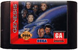 Cartridge artwork for Star Trek The Next Generation - Echoes from the Past on the Sega Genesis.