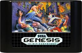 Cartridge artwork for Streets of Rage on the Sega Genesis.