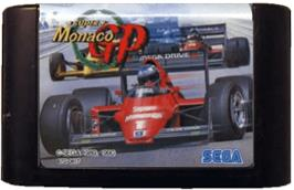 Cartridge artwork for Super Monaco GP on the Sega Genesis.