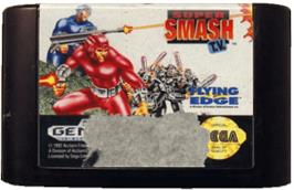 Cartridge artwork for Super Smash T.V. on the Sega Genesis.