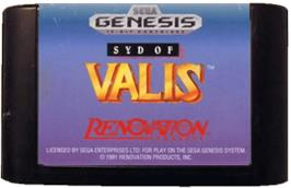 Cartridge artwork for Syd of Valis on the Sega Genesis.