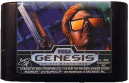 Cartridge artwork for Techno Cop on the Sega Genesis.