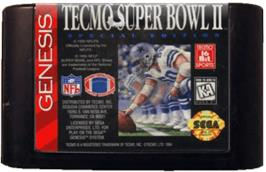 Cartridge artwork for Tecmo Super Bowl II: Special Edition on the Sega Genesis.