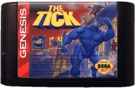 Cartridge artwork for Tick, The on the Sega Genesis.