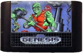 Cartridge artwork for Toxic Crusaders on the Sega Genesis.