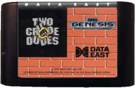 Cartridge artwork for Two Crude Dudes on the Sega Genesis.