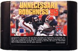 Cartridge artwork for Unnecessary Roughness '95 on the Sega Genesis.