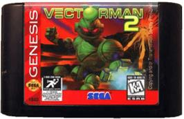 Cartridge artwork for Vectorman 2 on the Sega Genesis.