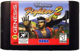 Cartridge artwork for Virtua Fighter 2 on the Sega Genesis.
