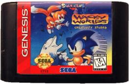Cartridge artwork for Wacky Worlds Creativity Studio on the Sega Genesis.