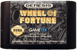 Cartridge artwork for Wheel Of Fortune on the Sega Genesis.