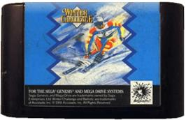 Cartridge artwork for Winter Challenge on the Sega Genesis.