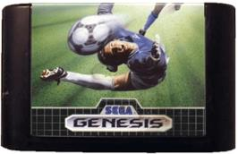 Cartridge artwork for World Championship Soccer on the Sega Genesis.